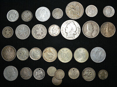 LOT World Foreign Silver coins 19th 20th c. some Scarce Unusual 3.5 Oz+