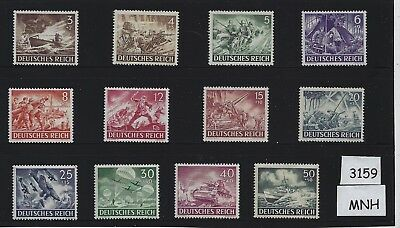 MNH stamp set / Nazi Germany / Armed forces / Military / Complete 1943 set / MNH