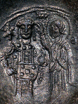 Byzantine, Manuel I BI Aspron Trachy EF Scyphate Silver ancient cup Christ coin