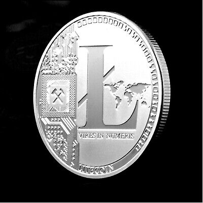 1 OZ Pure .999 Silver Plated Litecoin Crypto currency Collectable Souvenir