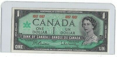 """1967 One Dollar Bank Note From Canada  """" No Date """"  Crisp Unc"""