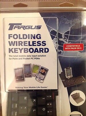 Targus Folding Wireless Keyboard For Palm And Pocket Pc PDAs Built In Stand