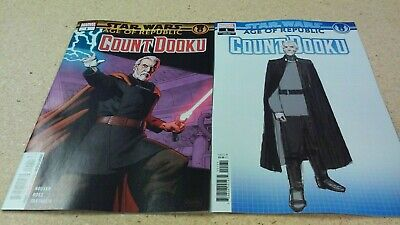 2 comic lot 2019 Star Wars Age of Republic Count Dooku 1 Regular & Variant Cover