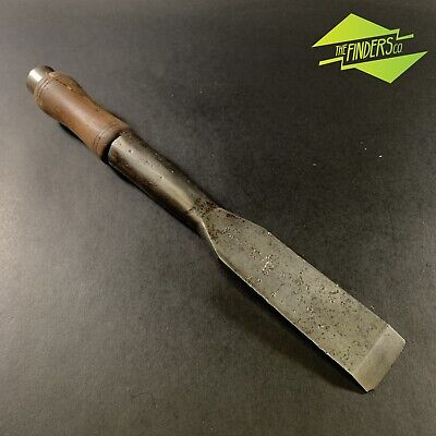 "ANTIQUE c.1870 ROBT. SORBY KANGAROO BRAND 2"" SLICK CHISEL SHIPWRIGHT FRAMING"