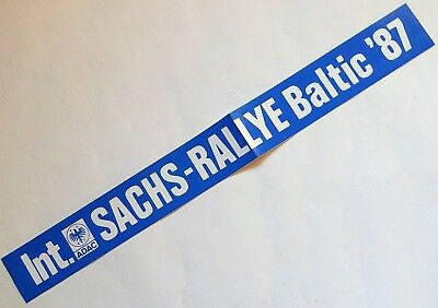 Sticker Aufkleber Int. Sachs Rallye Baltic 1987 | 66 x 7 cm | neu, original