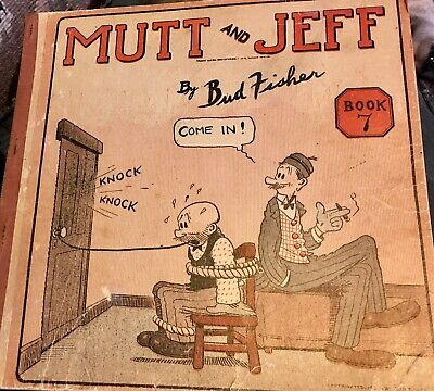 Mutt and Jeff Book 7- Bud Fisher- Vintage Original book of cartoons- 1920