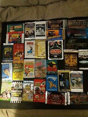 30 X Sealed Trading Card Packs Job Lot Various - star wars star trek disney +