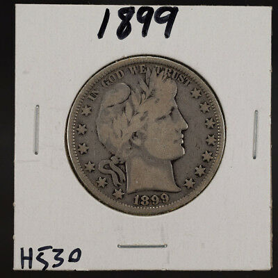 1899 50c SILVER BARBER HALF DOLLAR LOT#H530