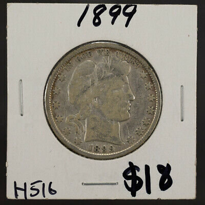 1899 50c SILVER BARBER HALF DOLLAR LOT#H516
