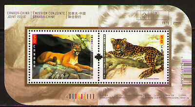 Canada 2005 Sc2122-3b MiB78 1 SS  mnh Wild Cats. Diplomatic Relations with China