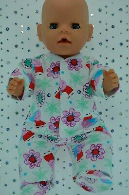 "Play n Wear Doll Clothes To Fit 17"" Baby Born PJ'S~FLANNELETTE PANTS~TOP~BOOTIES"