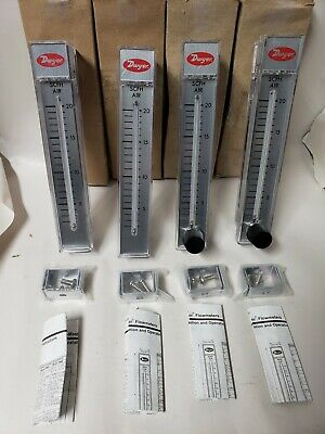 NEW (LOT OF 4) Dwyer Rate-Master Flowmeter 0-20 SCFK RMB-51-SSV RMB-51
