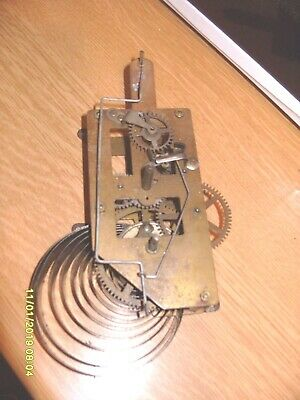 Clock Parts Wall Clock ? Time Piece Movement   Working  Spring  Ok  Spare  Parts