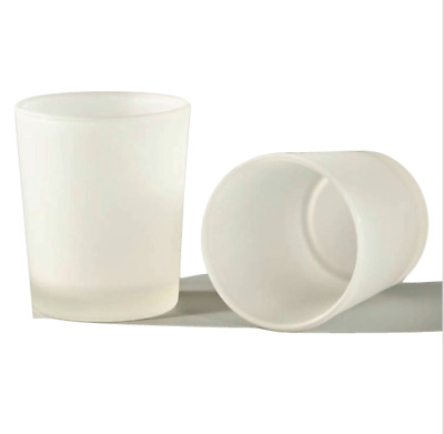 96 x Frosted Glass Votive Tealight Candle holders - bulk buy candlemaking