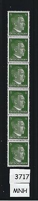 #3717   MNH Stamp strip / Adolph Hitler / 1941 PF05 / Nazi Germany / Third Reich
