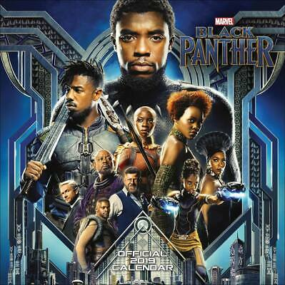 Black Panther 2019 Official Marvel Square Wall Calendar - Free Fast P&P! - NEW