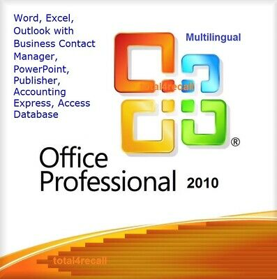 Office Professional 2010 32/64bit Genuine Key Product Code Word / Excel / Access