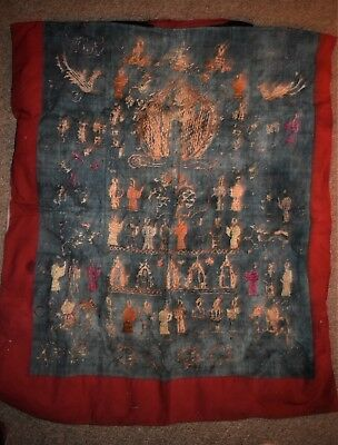 """ORIG $699 YAO SHAMAN FULL LENGTH ROBE, EMBROIDERED 48"""" EARLY 1900S prov"""