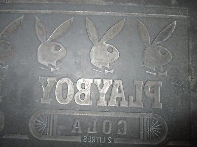 Very Rare Old Tin Play Boy Printing Plate,shops,restaurants,cafe,personal,