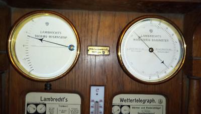 Lambrecht 's Wettertelegraph Thermohygroskop Holosterik Barometer Thermometer