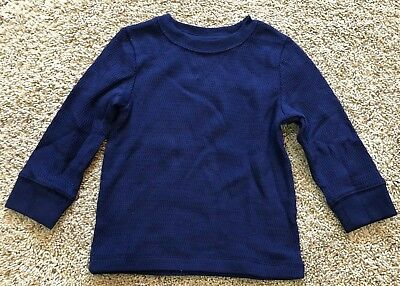 NWT Boys Navy Blue Long Sleeve Cat & Jack Thermal Top 4T