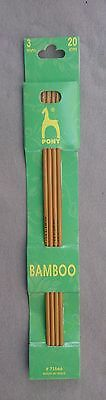 Pony bamboo knitting pins - set of 4 double end pins