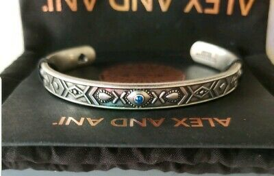 Alex and Ani Evil Eye Cuff Bracelet Rafaelian Silver New with Tags
