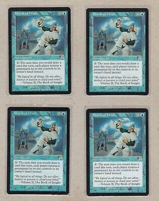 MTG -  4X Words of Wind X4 - Onslaught - Rare EX - Playset