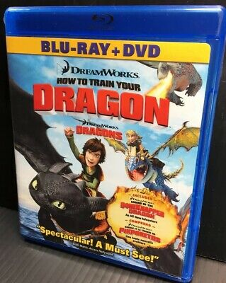 How to Train Your Dragon/Legend of the Boneknapper (Blu-ray/DVD, 2010 Open Good