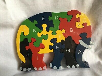 Educational Plan Toy For Kid Puzzle Wooden Alphabet And Number Jigsaw Preschool