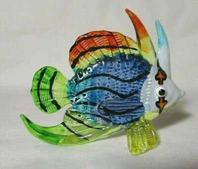 NEW AWESOME HAND-BLOWN GLASS BIG COLORFUL FISH 3 LONG SPIKES  2-3/4 inches