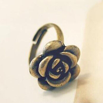 1pc Vintage Alloy Classic Rose Ring Fashion Jewelry Gift For HER