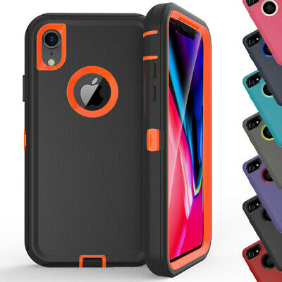 for iPhone XR Hybrid Case Defender Shockproof Cover with Belt Clip Fit Otterbox