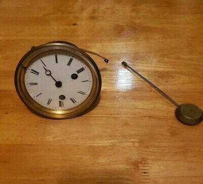 Pretty Victorian Japy Freres French Medal Slate Mantle Clock ~Spares or Repairs~