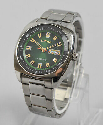 newest b4ba5 b50c2 SEIKO RECRAFT SNKN01 Mens Wrist Watch 7S26-04B0 Green Stainless Steel  Automatic