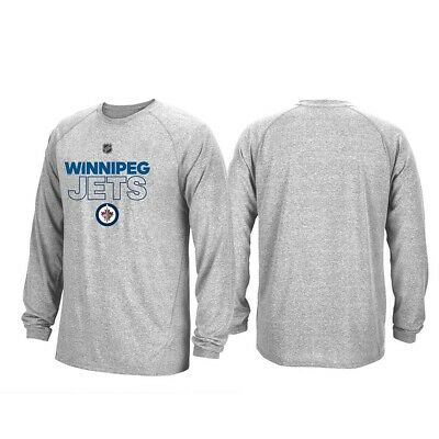 9b6c7d85719 Winnipeg Jets NHL Adidas Mens Grey Climalite Long Sleeve Authentic Ice T- Shirt