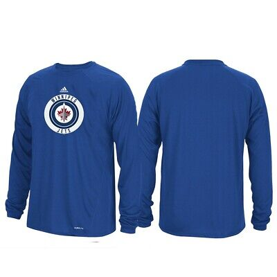 bcafe65fe24 Winnipeg Jets NHL Adidas Mens Blue Climalite Long Sleeve Authentic Ice T- Shirt