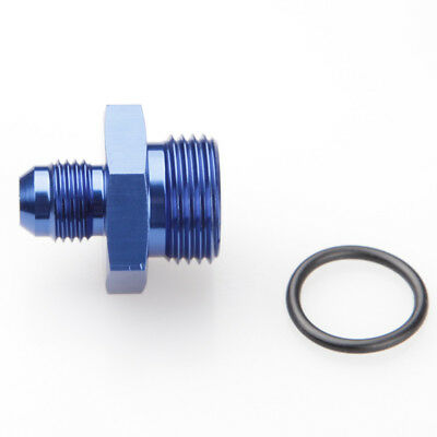 Blue AN-6 AN6 Male Flare To AN-10 AN10 Straight Cut Adapter With O-Ring Aluminum