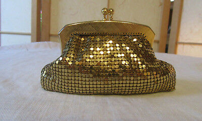 Vintage Glomesh Gold Toned Coin Purse