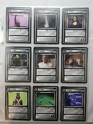Star Trek Tng Customizable Card Game Q Continuum Black Border + Doubles