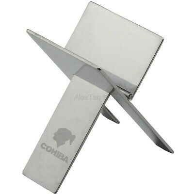 COHIBA Portable Foldable Cigar Stand Ashtray Stainless Steel Holder