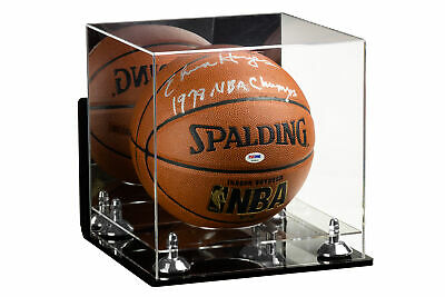 Full Size Basketball Display Case w/ WallMount, SilverRisers & Clear Base (A001)