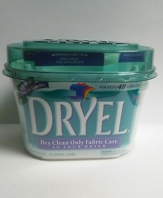 DRYEL At Home Dry Cleaning Starter Kit 12 Dryer Loads 48 Garments Fabric Care