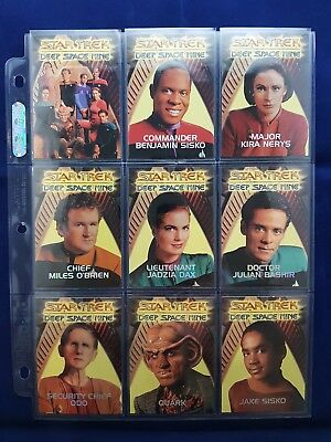 Star Trek DS9 Embossed Redemption Set R1 to R10 RARE 1:180
