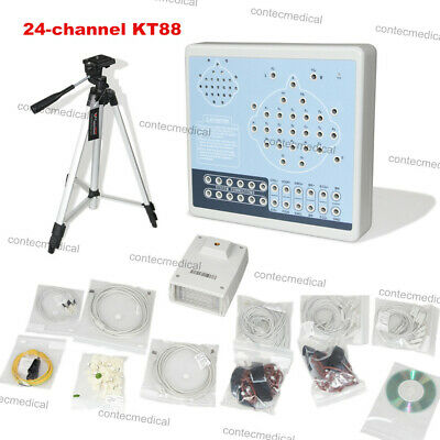 CE,KT88-2400 Digital 24-channel EEG Machine& Mapping System+ 2 Tripods, Software