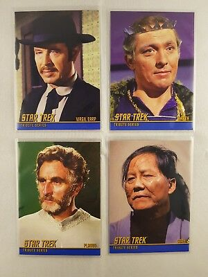 Star Trek TOS HEROES & VILLAINS TRIBUTE Cards T45,T44,T38,T46, odds 1:6