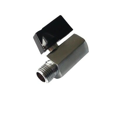 Mini Reliable Much  Brass Ball Valve Solid Chrome Plated 1/4 1/8 1/2 #NP5