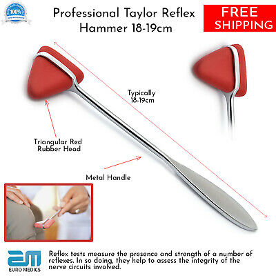 Taylor Reflex Hammer Red Tip Surgical Diagnostic Instruments Testing Pro Medical