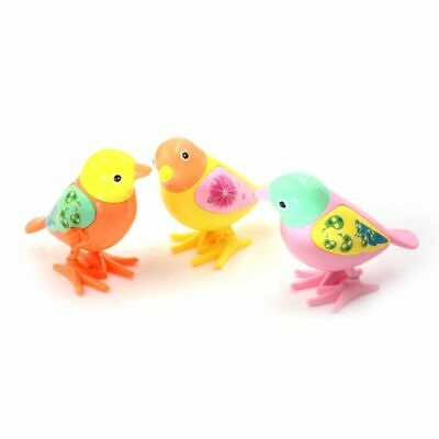 Clockwork Wind Up Toy Cute Bird Kids Plastic Early Educational Toy Color Random