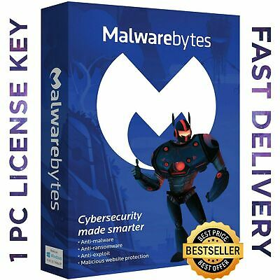 🔑🔑🔑 Malwarebytes Anti-Malware 1 YEAR License Key | Windows | Fast Delivery